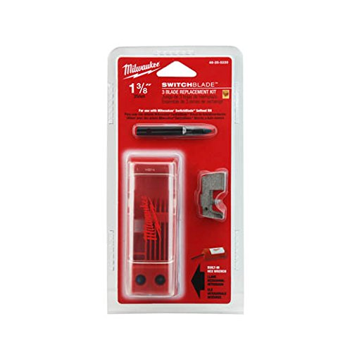 Milwaukee 48-25-5220 1-3/8-Inch Switchblade 3 Blade Replacement Kit