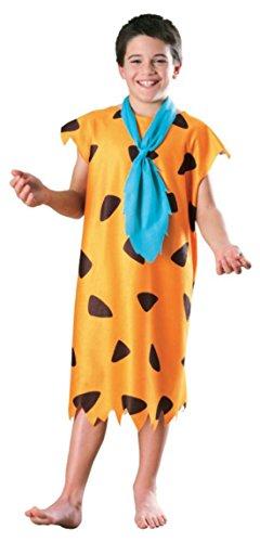 Boys Fred Flintstone Kids Child Fancy Dress Party Halloween Costume, L (Fred Flintstone Fancy Dress)