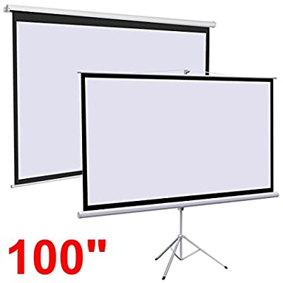 Gotobuy Projector Projection Screen Manual Pull-down