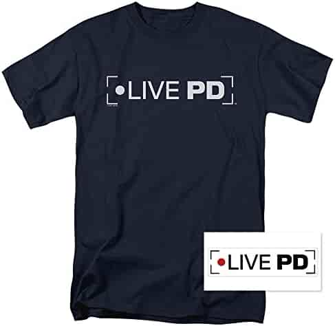 Live PD Police Reality Show Dan Abrams T Shirt & Exclusive Sticker