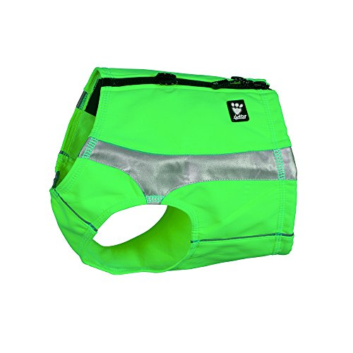 Kiwi Color Reflector - Hurtta Polar Visibility Dog Vest, Kiwi, XL