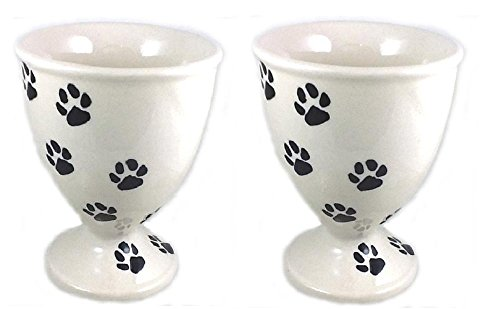 set-of-2-goblets-polish-pottery-10-ounce-stoneware-wine-water-juice-glass-dessert-dish-bowl-lapa-paw
