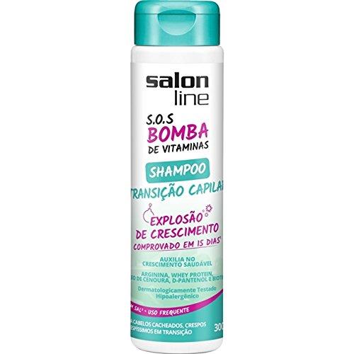 Amazon.com : Linha Tratamento (SOS Bomba de Vitaminas) Salon Line - Shampoo Transicao Capilar Explosao de Crescimento 300 Ml - (SOS Vitamin Bomb Collection ...