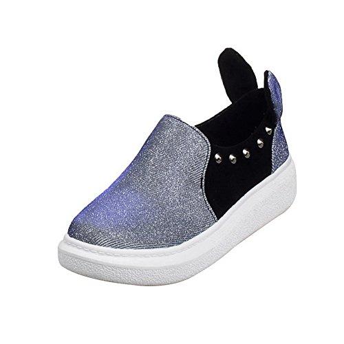 A&N Ladies Platform Assorted?Color Grommets Urethane Flats-Shoes Purple FBwb2IT