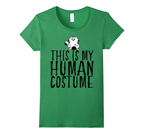 Lady Idea Cat Costume Crazy (Womens My Human Costume Cat Shirt Funny Gift For Men Women & Kids Large)