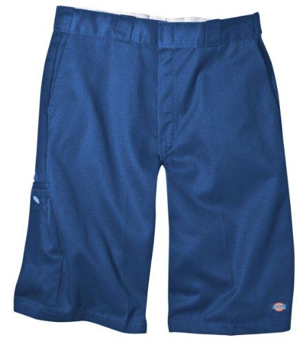 Dickies Men's 13 Inch Loose Fit Multi-Pocket Work Short, Royal Blue, 30
