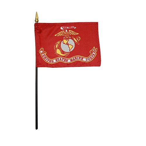 U.S. Marine Corps USMC Hand Held Desk Table Top Polyester Fl