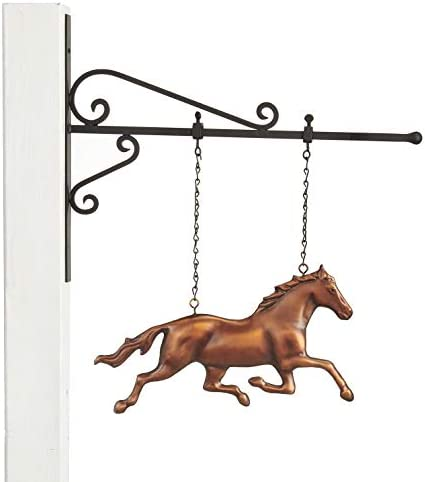 Good Directions 1974BRNH Galloping Horse Hanging Wall Sculpture