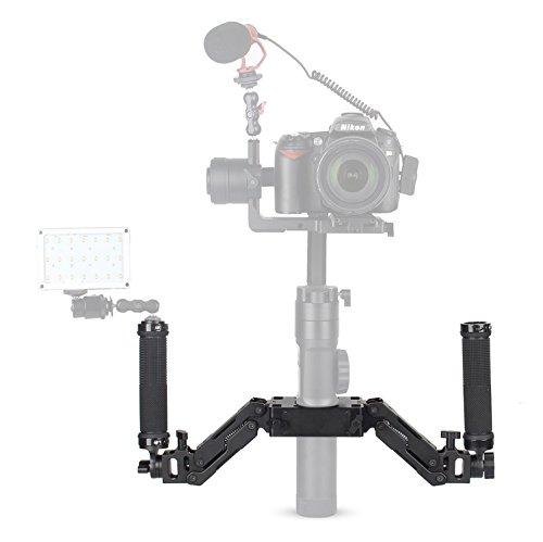 EACHSHOT Z-Axis 5 Axis Spring Dual Handle Grip Handheld Handlebar Kit for Gimbal Zhiyun Crane Plus/Crane 2/Crane V2/Feiyu a1000/a2000/Gusen MOZA Air Aircross (Not Support DJI -