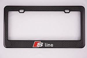 audi s line carbon fiber license plate frame