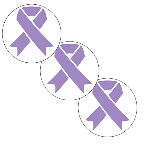 - Cancer Aware Lavender Ribbon Sticker (24 Pieces) by Partypro