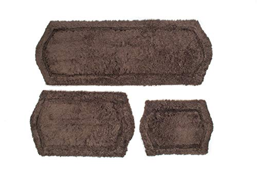 Chesapeake Paradise 3 Pc. Memory Foam Chocolate Bath Rug Set 43263 (22