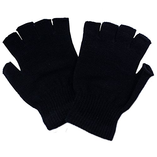CoverYourHair Fingerless Gloves - Winter Hats - Winter Gloves for Kids and Adults - Ski Mask - Skull Cap - Knit Hat - Beanies (finger less gloves) (Fingerless Gloves)