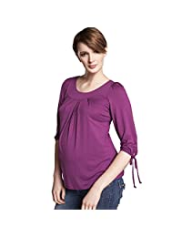 Maternal America Women's Maternity Tie Sleeve Shirt