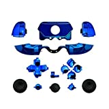xbox one bumper mods - Chrome ABXY Dpad Triggers Full Buttons Set Mod Kits for XBox One Elite Controller (Chrome Blue)