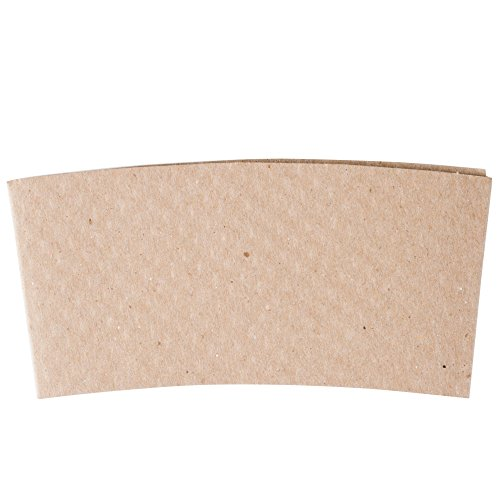 Natural Kraft Customizable Embossed Coffee Cup Sleeve 12-24 oz.- 1500/Case by Natural Kraft