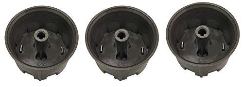 KHY 3 Dark gray Control Knob Set FOR Weber Spirit E-310 by KHY