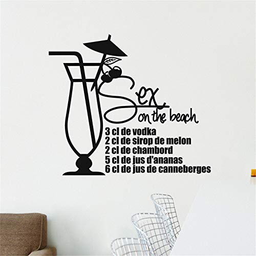 Wall Decal Sticker Art Mural Home Dcor Quote Cooking Recipe Sex On The Beach 3 Cl of Vodka for Kitchen Dining Room]()