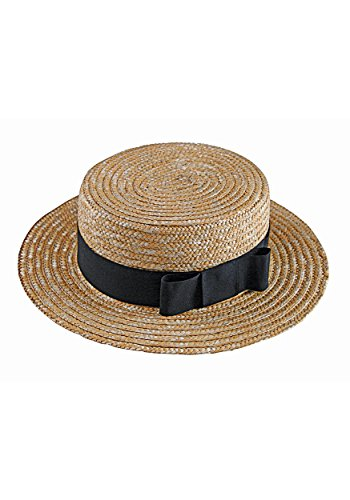 Fun World Men's Love Lucy Ricky Straw Hat and Bow Tie, brown, -