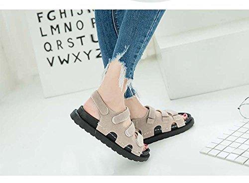 de de Zapatos de amp; Mujer Caqui Sandalias Verano Hook Loop Playa Zapatos de Moda Ocasionales la Mujer de SPBdw8wqW