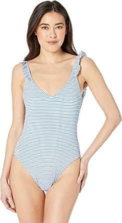 Polo Ralph Lauren Women's Seersucker Stripe Ruffle Back