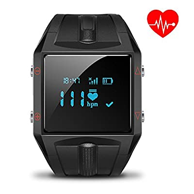 LUOOV Big Black Heart Rate Smart Activity Tracker for Android and IOS