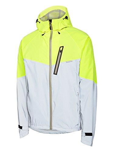 Madison Silver-Hi-Viz Yellow 2018 Stellar Reflective Cycling Waterproof Jacket (XL, Grey) ()