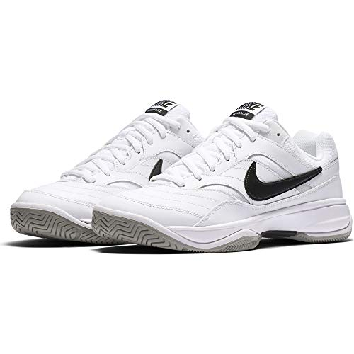 NIKE Men's Court Lite Tennis Shoe, White/Medium Grey/Black, 11.5 D(M) US