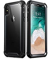 i-Blason Ares Full-Body Rugged Clear Bumper Case for iPhone Xs Max 2018 Release, Black, 6.5