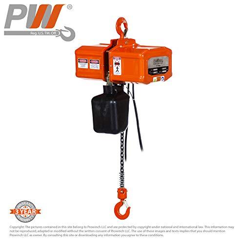 1 Ton Electric Chain Hoist 20 ft FEC G80 Japan Chain M3/H2 110V/220V