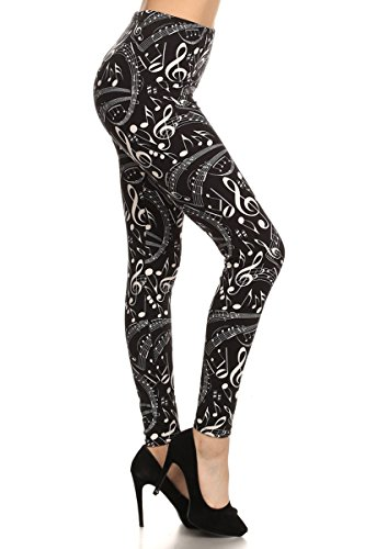R550-OS Music in Me Print Fashion Leggings