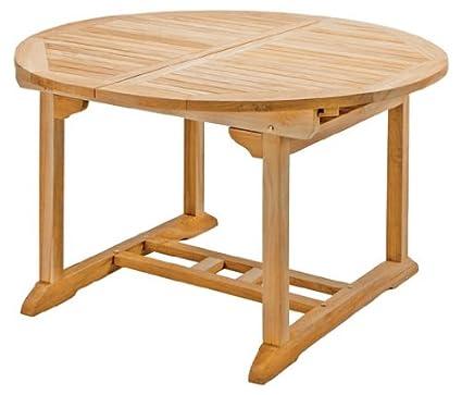 Teakholz Tisch Garten.Runder Ausziehtisch Rondo Aus Teakholz 120 170cm Wetterfest Nachhaltig Robust Holztisch Als Großer Küchen Tisch Balkon Tisch Garten Tisch
