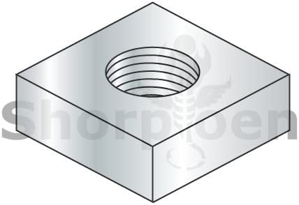 weight21.63Lbs Square Machine Screw Nut Zinc 1//4-20 Box of 3000