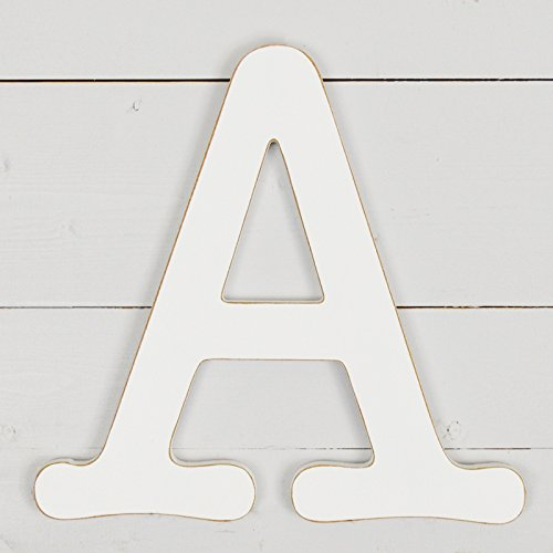 UNFINISHEDWOODCO 11.5'' Typewriter Wall Decor Letter A- White by UNFINISHEDWOODCO