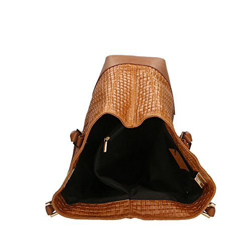 in Borse avec à Made Imprimer Sac cm Tressé Cuir Italy 37x27x14 main cuir véritable bandoulière Chicca femme d7Bqxw4q