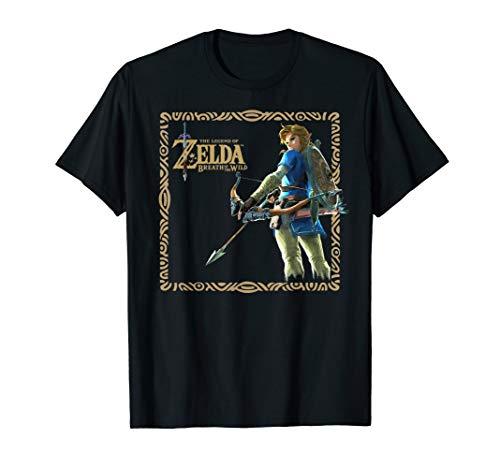 10 Framed Legends - Zelda Breath Of The Wild Link Stance Framed Graphic T-Shirt