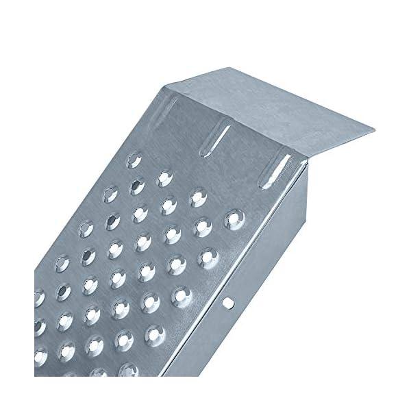 41bmK3wIV3L MASKO® 2X Auffahrrampe 400kg   Verladerampe   Verladeschiene   verzinkter Stahl   Antirutsch   200kg* Pro Stück   Max…
