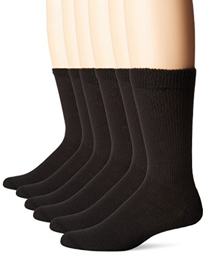No Nonsense Men's Cushion Crew Socks (6 Pack) Made in USA...