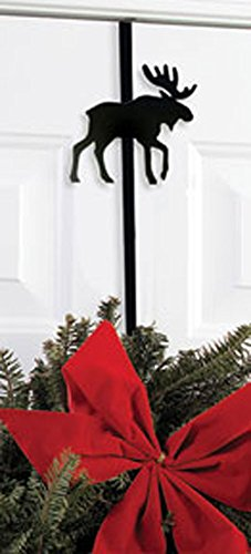 "Iron Moose Christmas Wreath Hanger - 13"" Winter Door Hook..."