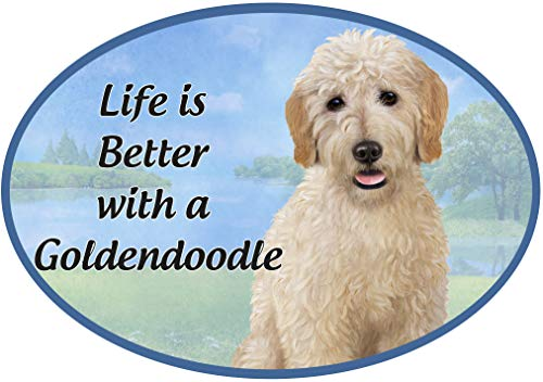 Oval Dog Breed Magnets perfect for car or refrigerator - Pet Lover Gifts - UV Coated