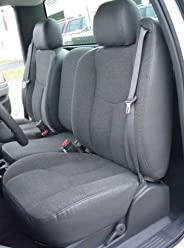 Gray Endura Durafit Seat Covers Front 40//20//40 Split Bench Seat and Rear 60//40 Split Bench Seat with Fold Down Armrest with Cupholders 2014-2017 Chevy Silverado Work Truck Front and Back Seat Set
