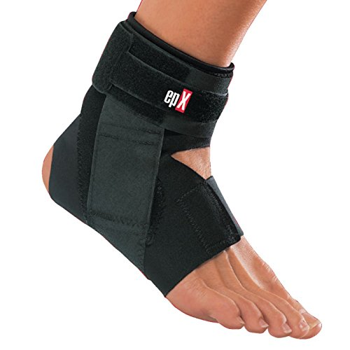 epX V-Lock Ankle Stabilizer, Ankle Support Brace with Straps for Stabilization and Protection Against Injuries, Strains, Sprains, and Ligament Instability, Post-Op & Rehabilitation Orthosis, Large -