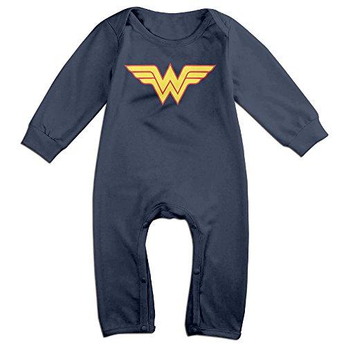 Female Elvis Presley Costumes (HOHOE Babys Wonder W Logo Woman Long Sleeve Bodysuit Baby Onesie Navy 24 Months)