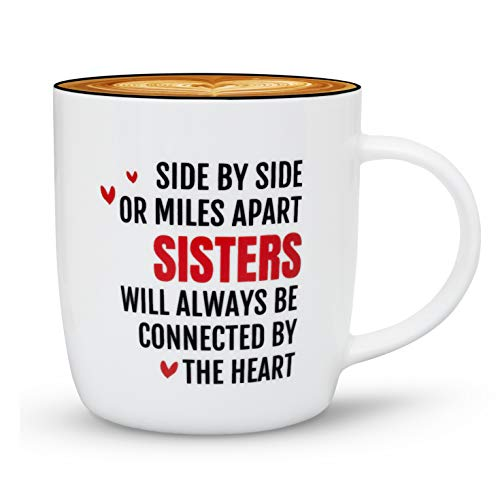 Gifffted Best Sister Ever Coffee Mug, Gifts Ideas for Sisters from Sister, Birthday|Valentines|Christmas Day for My Twin|Big|Little|Younger|Older Sister, Sisters Mugs, Side by Side (For Sister Gift Christmas Older Ideas)