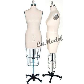 Amazon.com: Female Half Body Dress Form Size 8, Collapsible ...
