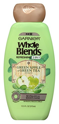 Garnier Whole Blends 2-In-1 Green Apple & Green Tea 12.5 Ounce (370ml) (2 Pack) (Apple Green Tea Tea)
