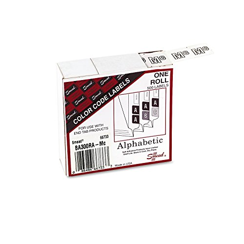 UPC 086486667333, Smead BA300RA Color-Coded Alphabetic Label, Mc, Label Roll, White, 500 labels per Roll, (66733)