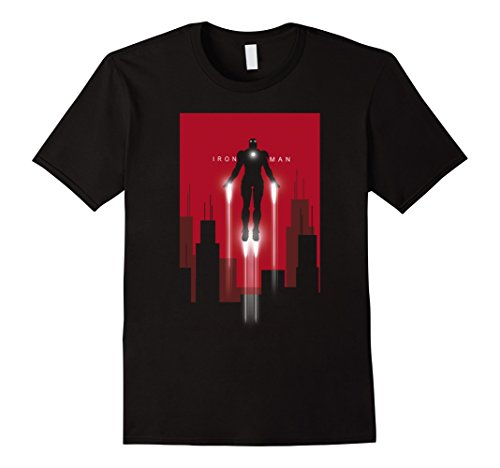 Mens Iron Man in Flight Graphic T-Shirt Medium Black