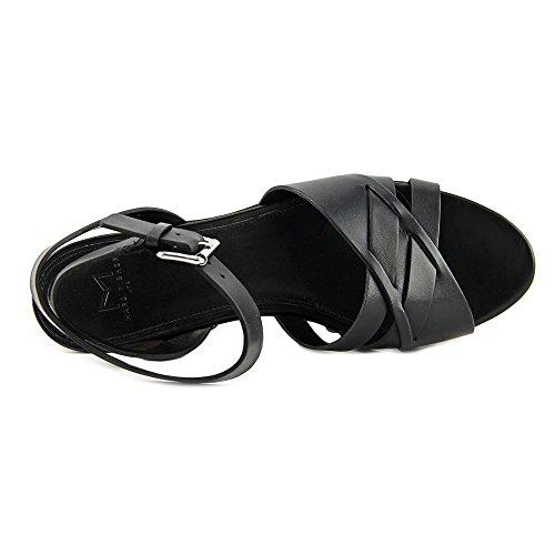 Marc leger Keilabsatz Zeh Fisher Frauen camilla Leather Sandalen Black Offener mit rnr86gxB