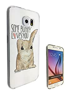c0309 - Cool fun Cute bunny quote some bunny loves you heart Design Samsung Galaxy Note 5 Fashion Trend CASE Gel Rubber Silicone All Edges Protection Case Cover
